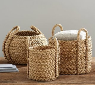 "Inside Jenni Kayne's Stunning Living Room Makeover - Photo 6 of 20 - Pottery Barn ""Beachcomber Round Handled Basket"" ($59)"