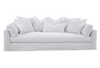 "Inside Jenni Kayne's Stunning Living Room Makeover - Photo 8 of 20 - One Kings Lane ""Banyan Slipcover Sofa"" ($4099)"