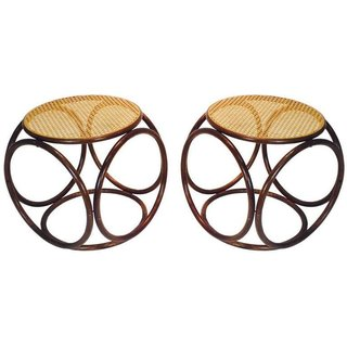 "Inside Jenni Kayne's Stunning Living Room Makeover - Photo 12 of 20 - Thonet Pair of ""Bentwood Stools"" ($1450)"