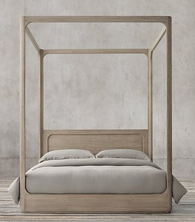 "Restoration Hardware ""Martens Four Poster Bed"" ($3395)"