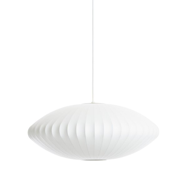 Inside a Hip Austin Apartment With Moody Vibes - Photo 2 of 8 - Design Within Reach Nelson Saucer Pendant Lamp ($455)
