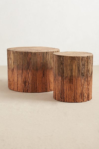 Inside a Hip Austin Apartment With Moody Vibes - Photo 4 of 8 - Anthropologie Reclaimed Wood Side Table