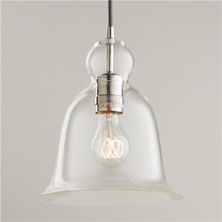 "Tour Lauren Conrad's Elegant, Light-Filled Home in the Pacific Palisades - Photo 4 of 23 - Shades of Light ""Bell Curve Glass Pendant Light"", $98"