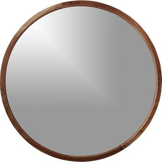"Tour Lauren Conrad's Elegant, Light-Filled Home in the Pacific Palisades - Photo 9 of 23 - CB2 ""Acacia Wood Mirror"", $299"