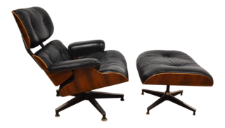 Inside Fitness Mogul Lorna Jane's Elegant L.A. Retreat - Photo 10 of 29 - Eames Rosewood Lounge Chair and Ottoman ($4900)