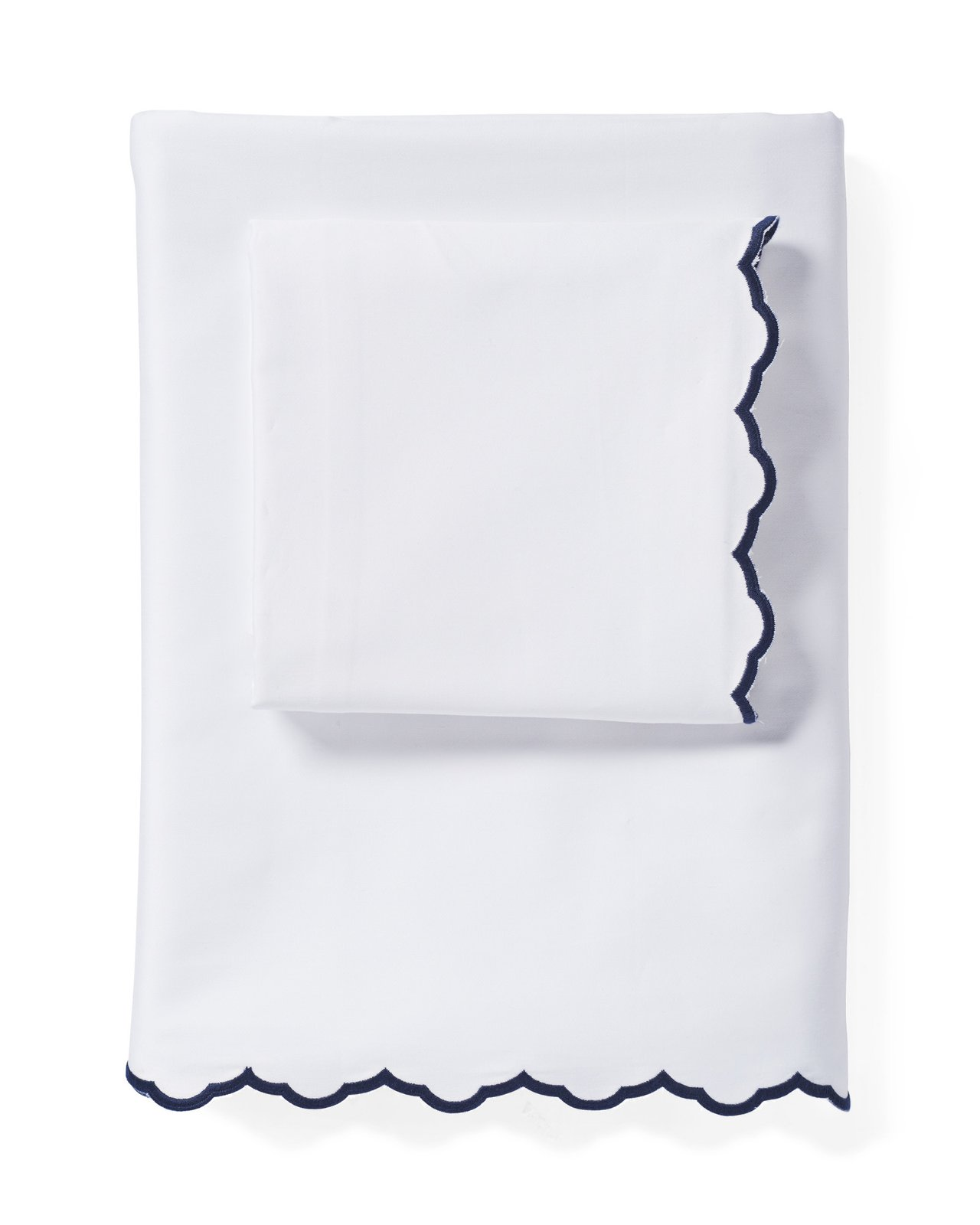 Serena & Lily Scallop Embroidered Sheet Set ($128)