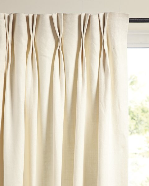 The #1 Small-Space Hack New Yorkers Swear By - Photo 8 of 16 - Serena & Lily Palmer Linen Window Panel ($150)