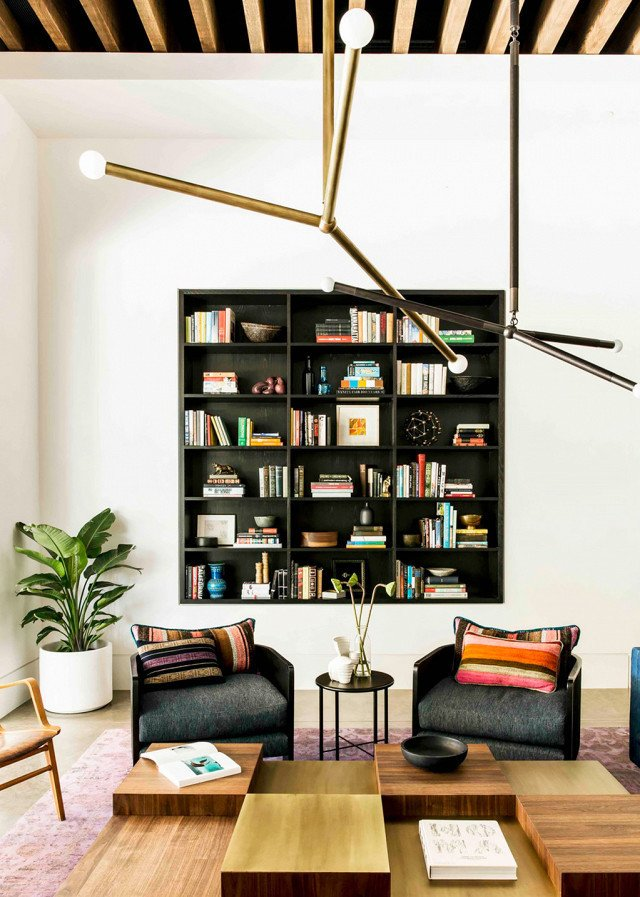 PHOTO: Katie Martinez Design  Photo 11 of 18 in 9 Home Libraries We All Want to Curl Up in This Weekend