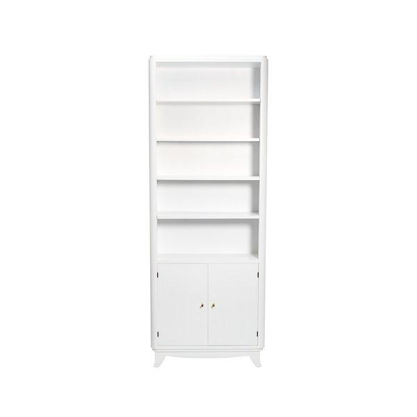Consort Narrow White Wooden Bookshelf ($3500)