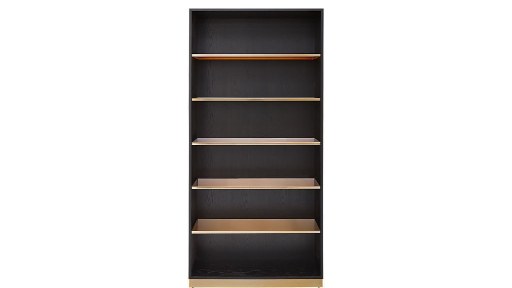 CB2 Linden Black Bookcase ($999)  Photo 8 of 18 in 9 Home Libraries We All Want to Curl Up in This Weekend