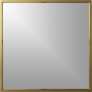 Tour an Insanely Stylish NYC Loft With Major Scandinavian Vibes - Photo 8 of 19 - CB2 Gallery Brass 33-inch Square Wall Mirror ($149)