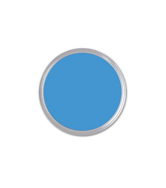 Behr Perfect Sky Flat Exterior Paint ($28)  Photo 13 of 23 in What's the Best Color to Paint Your Front Door? Your Guide to Finding The One