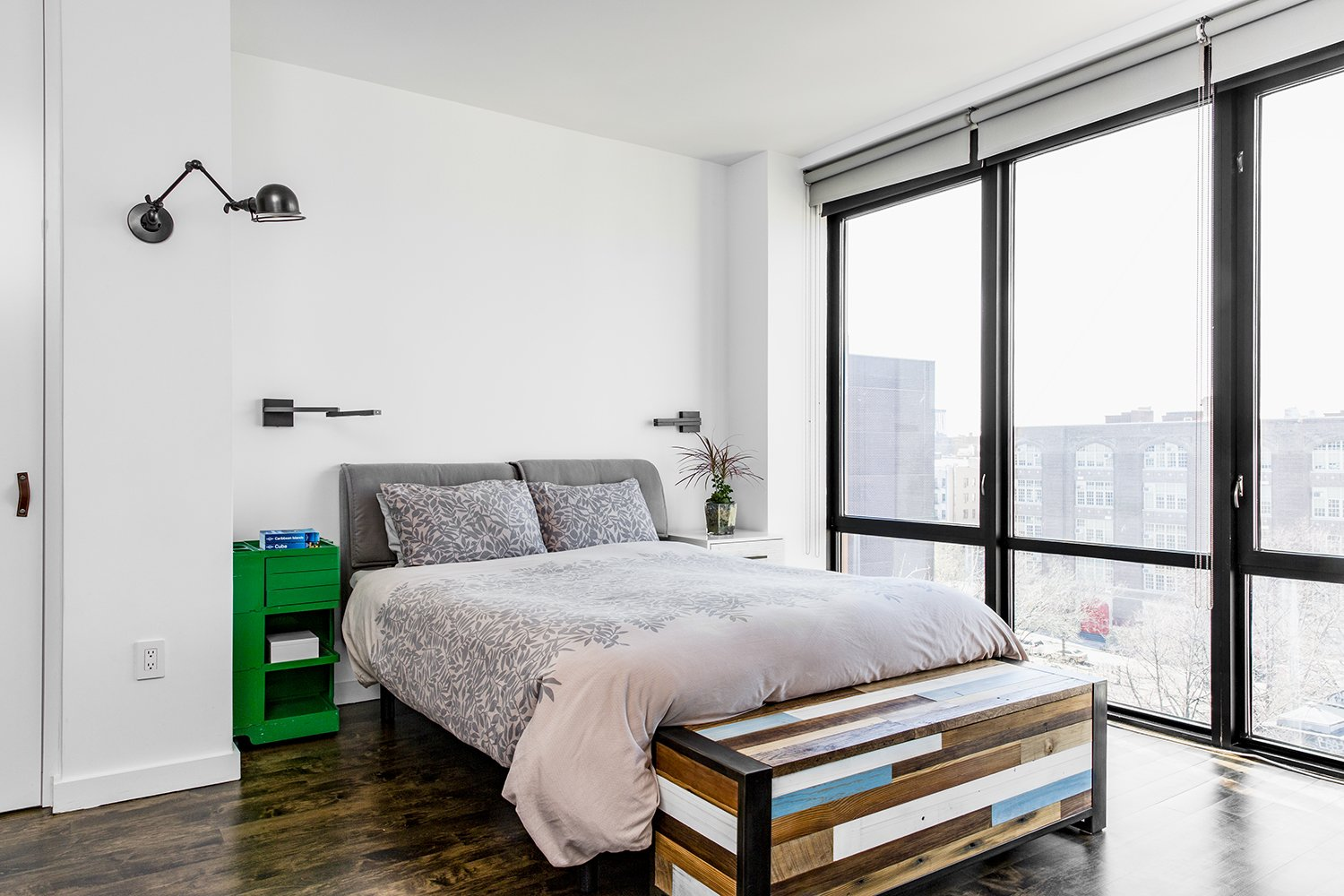 Tagged: Bedroom, Bed, and Wall Lighting.  Heavy Metal by James Wagman Architect