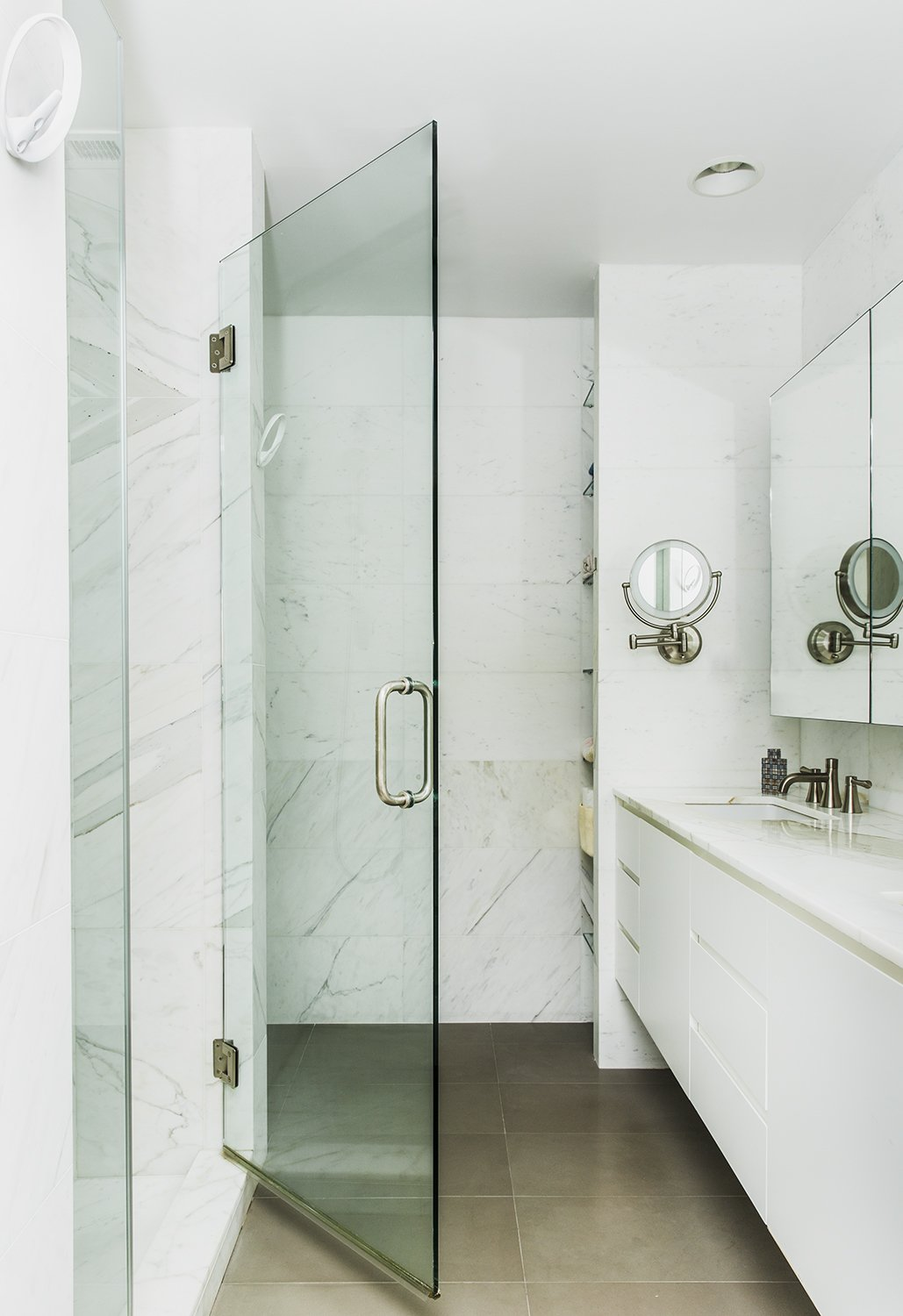 Tagged: Bath Room and Marble Wall.  Heavy Metal by James Wagman Architect