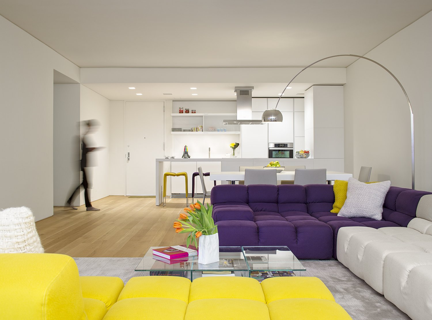 Tagged: Living Room, Chair, and Sectional.  A Pop of Color by James Wagman Architect
