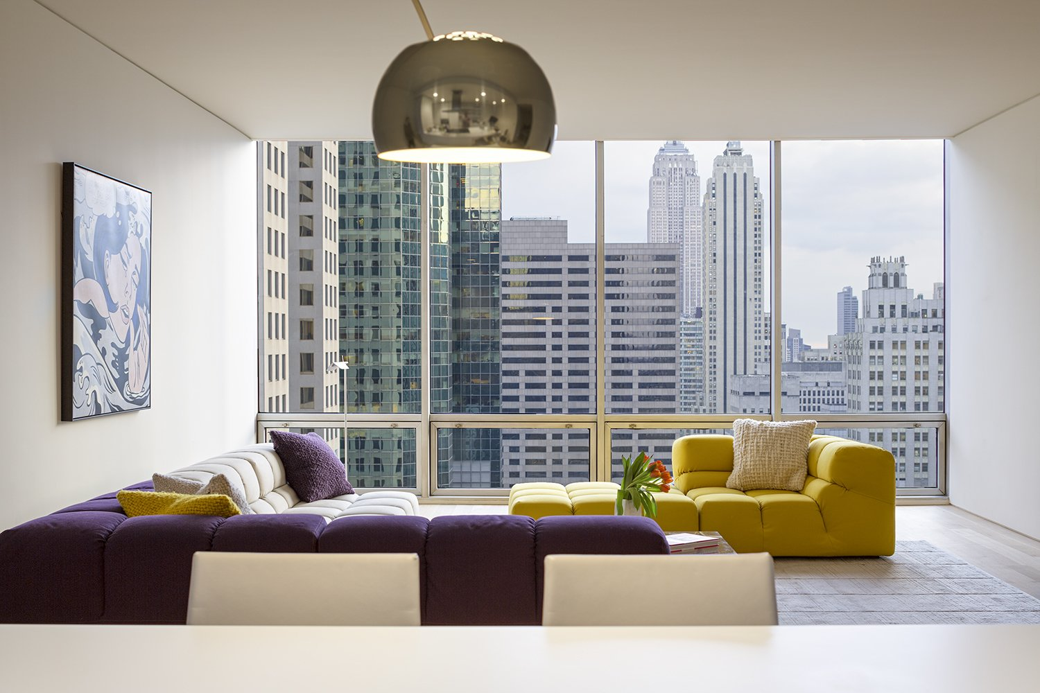 Tagged: Living Room and Sectional.  A Pop of Color by James Wagman Architect