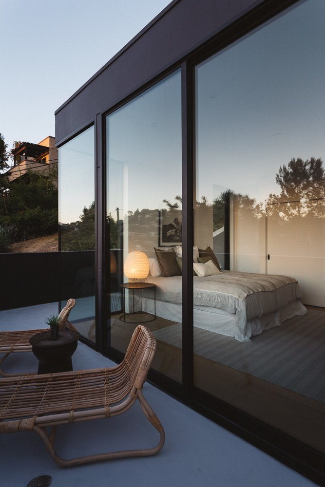Master Bedroom Deck Tagged: Exterior, Concrete Siding Material, and House.  Tilt-Shift House by ANX / Aaron Neubert Architects