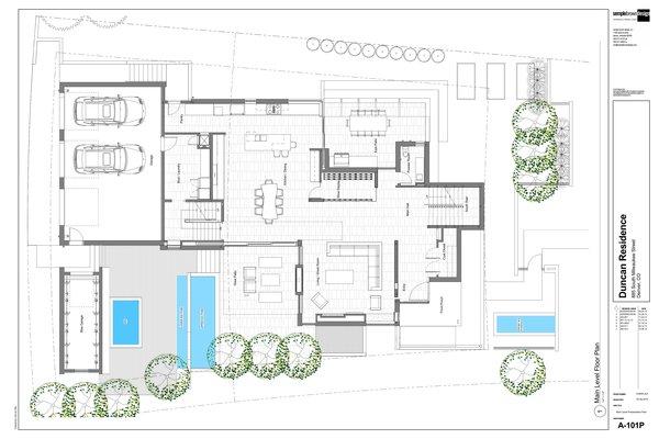 Main Level Floor Plan Photo 20 of the Duncan Residence modern home