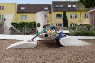 At first glance, you'd never guess this playground was built with recycled wind turbine blades. The prevalence of windmills in the Netherlands inspired architect group 2012Architecten to reimagine ways to use scrap parts. This playground celebrates Dutch industrial culture with originality, modernity, and most of all—safety. Its simplicity reminds us that imagination is the prerequisite for fun.