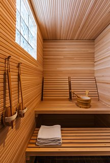 10 Sterling Saunas in Modern Homes - Photo 3 of 9 - Naturally sleek, this wooden sauna by Salmela Architect is both simple and honest.