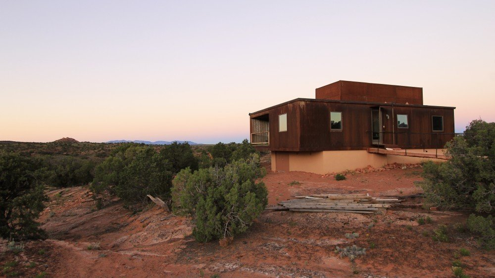 The Weezero Weehouse by Alchemy blends into into the copper hues of Moab, Utah.  Photo 2 of 11 in 10 Tiny Homes in Rural America