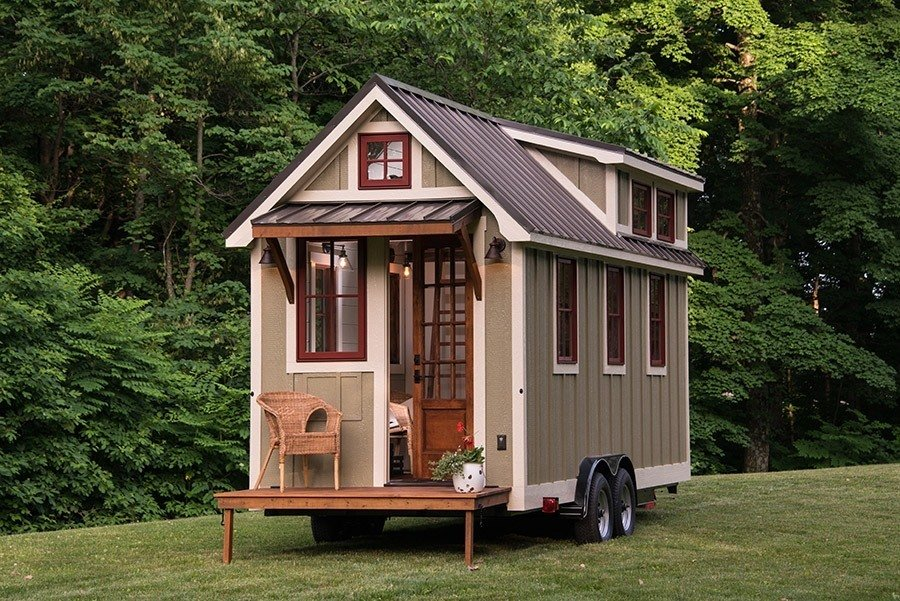 This mobile tiny house by Timbercraft Tiny Homes is 150 square feet of southern charm.  Photo 4 of 11 in 10 Tiny Homes in Rural America