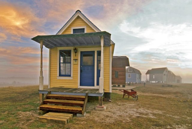 The picturesque aesthetic of the Tiny Texas House homes are modest and individually bespoke.  Photo 8 of 11 in 10 Tiny Homes in Rural America