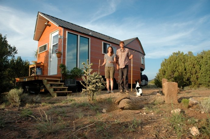 Clothesline Tiny Homes founders Carrie and Shane Caverly designed their home in New Mexico before their move to Colorado.
