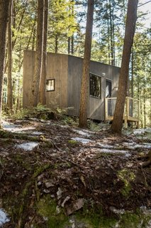 The Harvard Innovation Lab created micro-dwellings to offer a wooded escape to local residents.