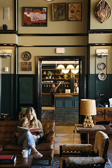 Staying at the Ace Hotel? Grab a coffee from Stumptown and relax in the lobby next door. Photo by Rush Jagoe. Read more about the design of this space at imbibemagazine.com/stumptown-new-orleans  Places to go by Lara Deam from A Tour of Stumptown New Orleans