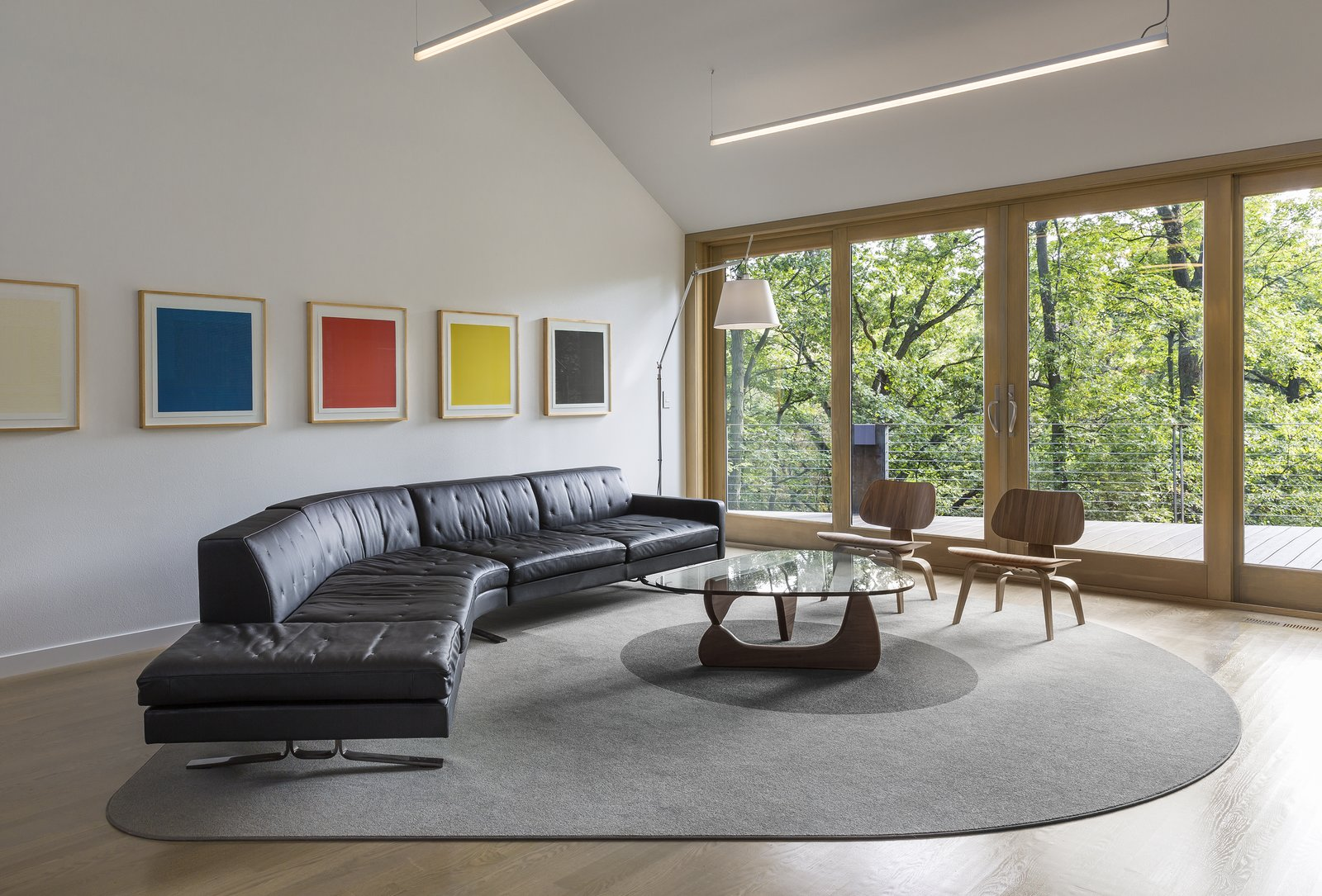 Tagged: Living Room, Rug Floor, Sectional, Light Hardwood Floor, Chair, and Coffee Tables.  3LP Residence by Substance Architecture