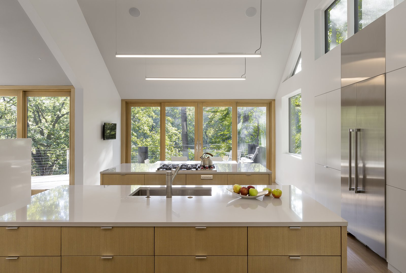 Tagged: Kitchen, Wood Cabinet, and White Cabinet.  3LP Residence by Substance Architecture