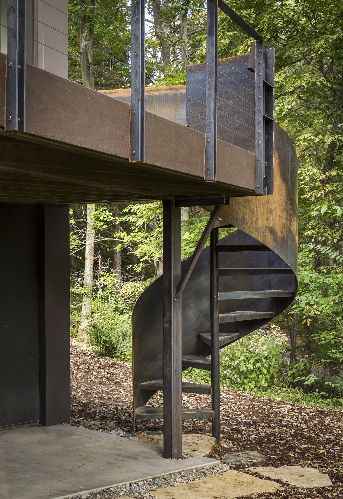 Tagged: Staircase, Metal Railing, and Metal Tread.  3LP Residence by Substance Architecture