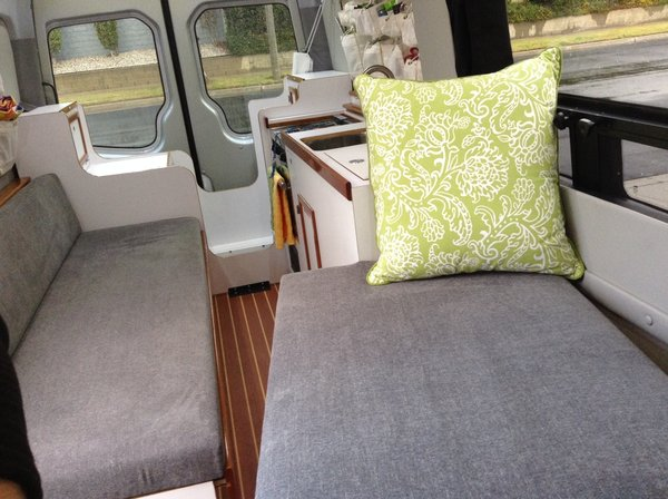 Interior showing twin bunk set up Photo 3 of The Farr Family Sprinter Van modern home