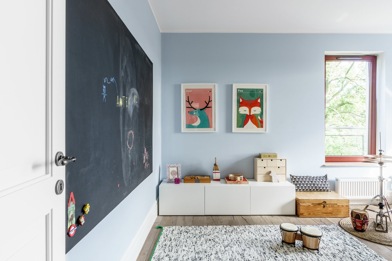Tagged: Kids Room, Playroom, Toddler Age, Storage, Light Hardwood Floor, Pre-Teen Age, and Neutral Gender.  Loft in Poland by Lucyna Kołodziejska | INTERIORS FACTORY