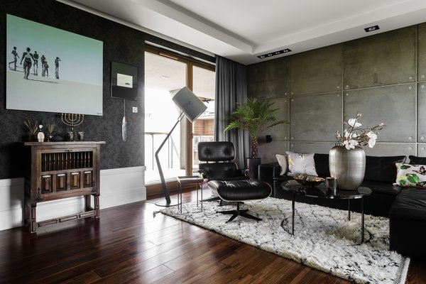 Modern home with living room, sofa, and chair. Photo 10 of Eclectic APARTMENT