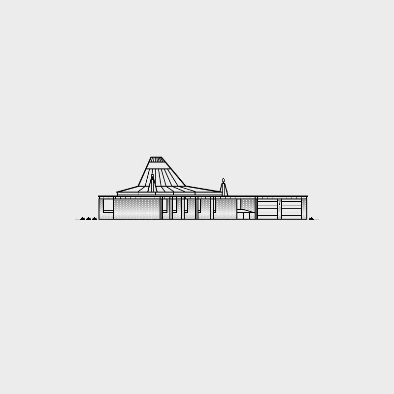 Freeman House, 1966. Architect, Gunnar Birkerts. Illustration by Michael Nÿkamp of mkn design.