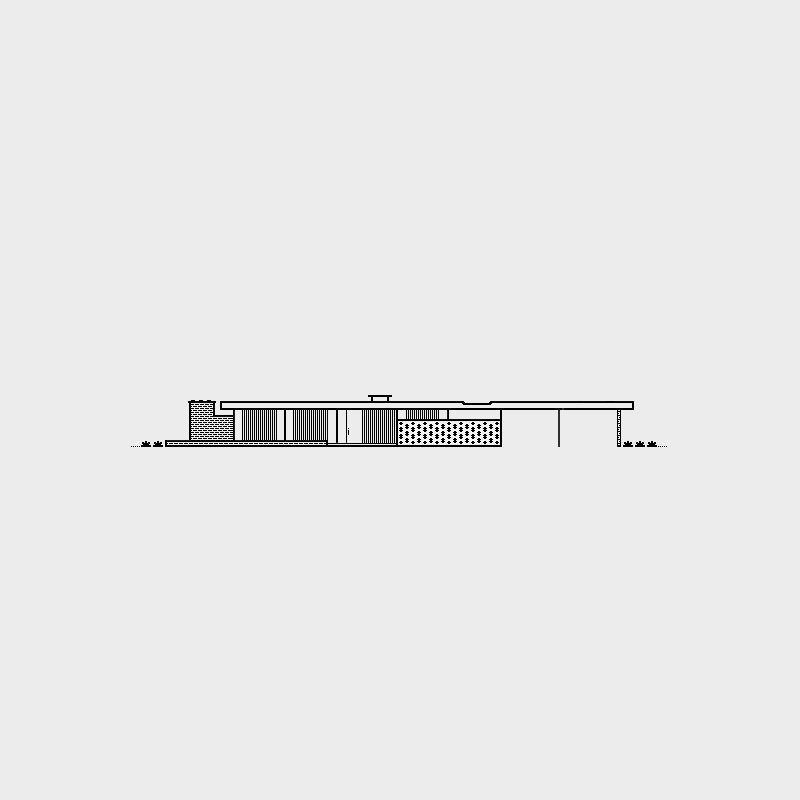Alcoa Care Free Home, 1957. Architect, Charles Goodman. Illustration by Michael Nÿkamp of mkn design.