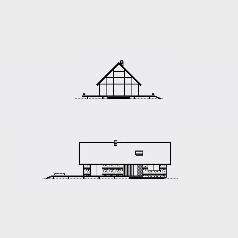 Risom House, 1967. Architect, Jens Risom. Illustration by Michael Nÿkamp of mkn design.   Mid Century Modern Homes Collection: Illustrations by Michael Nÿkamp by Michael Nÿkamp