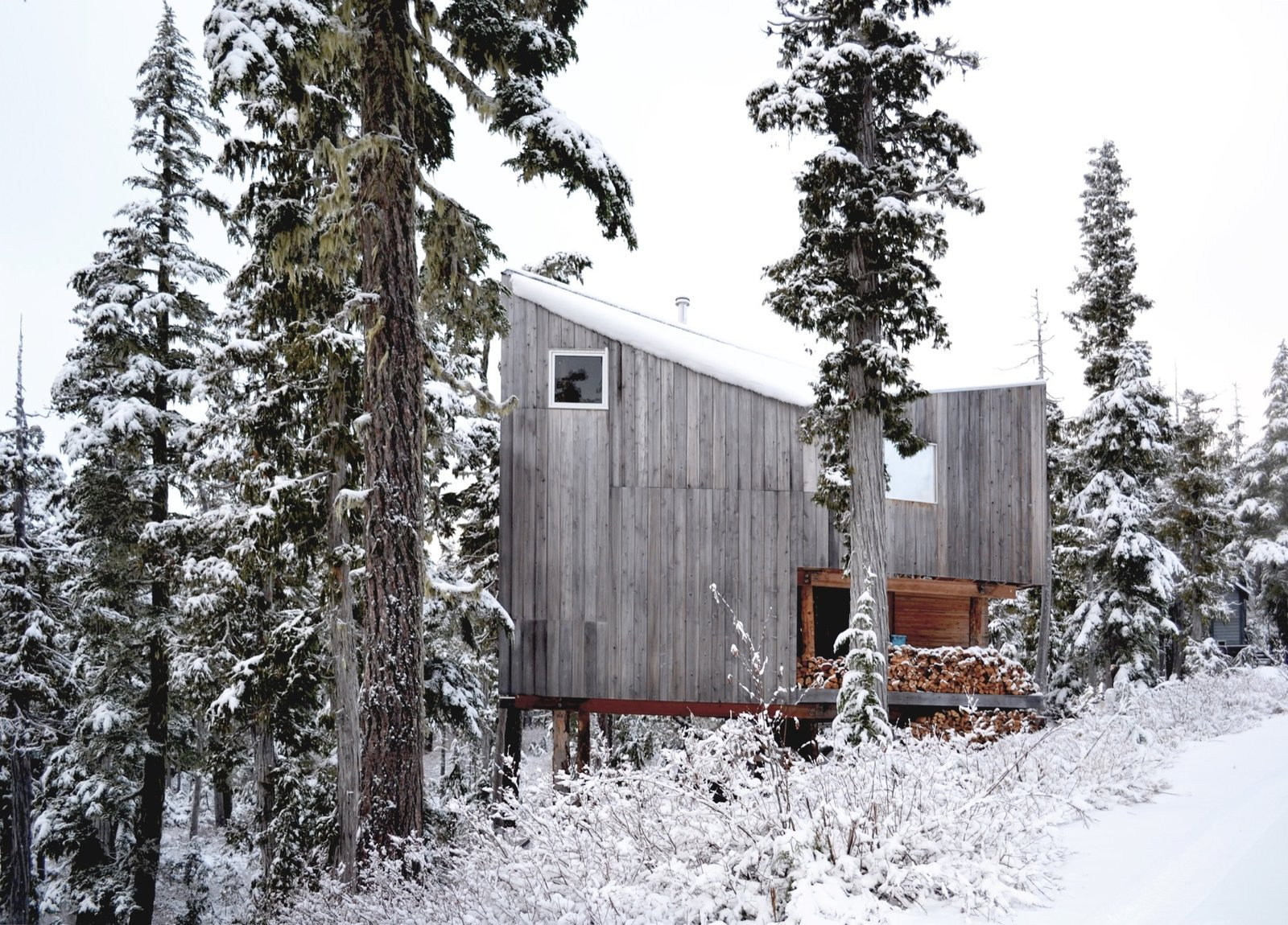 Architecture, Made On Site | Vancouver Island, Canada  The husband-and-wife founders of Scott and Scott Architects design-built their own off-grid cabin with the adventurous spirit of the powder boarders they both are.   Cabin Love by Sandra Henderson