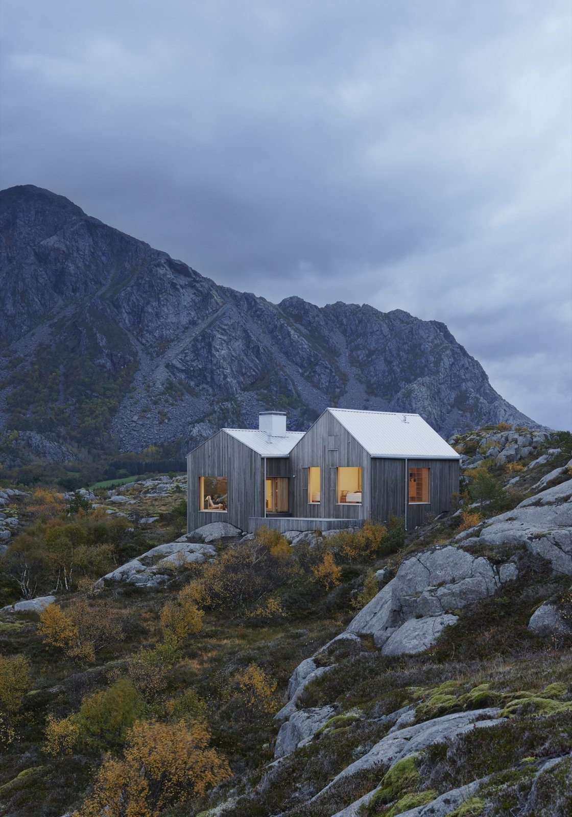 Naked Naust | Vega Island, Norway  A dramatic cabin by Swedish architect Erik Kolman Janouch on Norway's wild Vega Island.  Cabin Love by Sandra Henderson