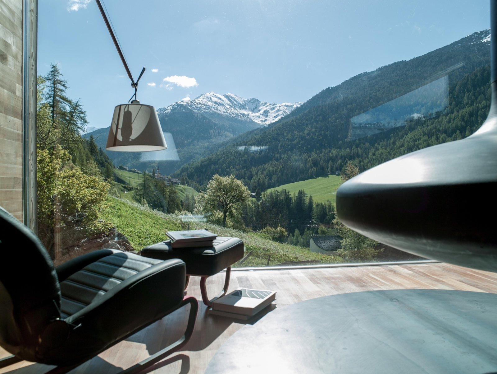 Window to South Tyrol | Italy  Artist and sculptor Othmar Prenner returns home to South Tyrol to converts an old farmhouse into his alpine-modern home and studio.  Cabin Love by Sandra Henderson