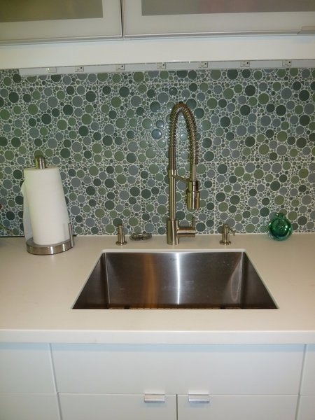 The deep stainless steel sink is by Kraus.  Faucet and soap dispensers by Danze. Photo 7 of Modern Laundry, Pantry and Dog Room modern home