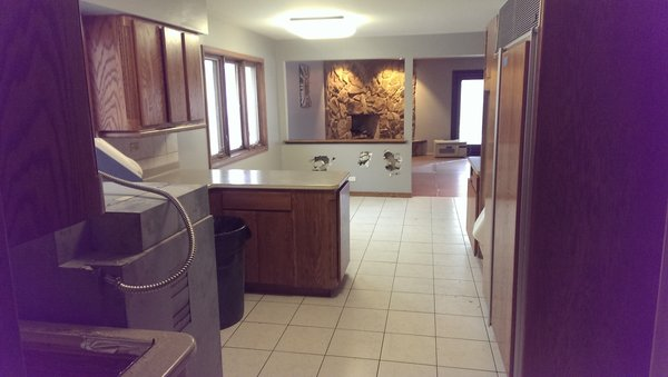 Here is a look at a before shot w/ a few demo holes:) Photo 15 of SMITH Kitchen modern home