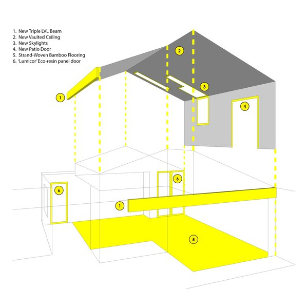 Here is an exploded diagram highlighting key features of the project. Photo 4 of SMITH Kitchen modern home