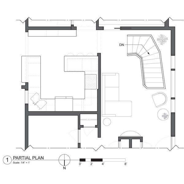 Floor plan showing a tight layout, but efficient flow. Photo 5 of Cascade modern home