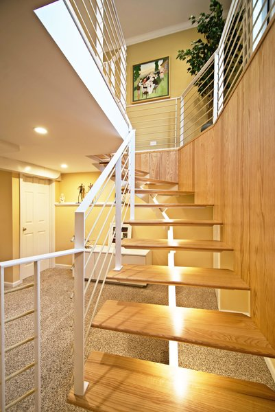 -LED lighting makes each tread hover:)     Photos by: Black Olive Photographic Photo 2 of Cascade modern home