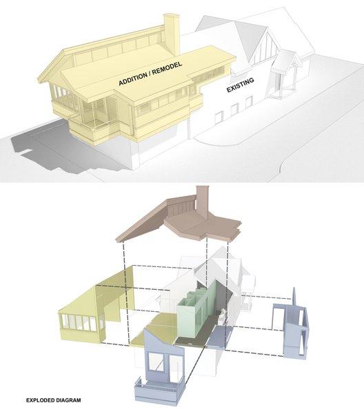 3D model & exploded diagram Photo 4 of New Tudor modern home