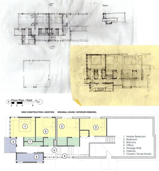 Sketches, parti, & Floor plan Photo 3 of New Tudor modern home