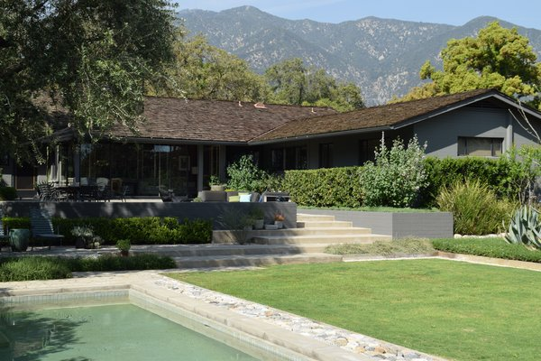 The home and gardens sit near the foothills of the San Gabriel mountains Photo  of The Ranch modern home